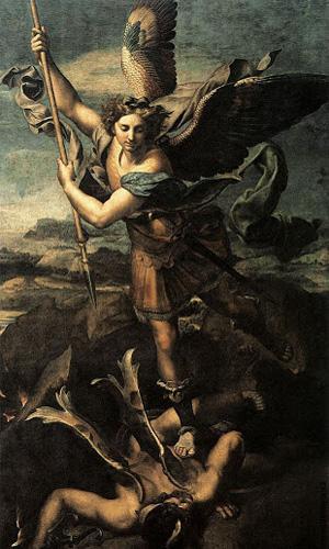 «Святой Михаил и Дьявол.» Традиционный сюжет из Апокалипсиса