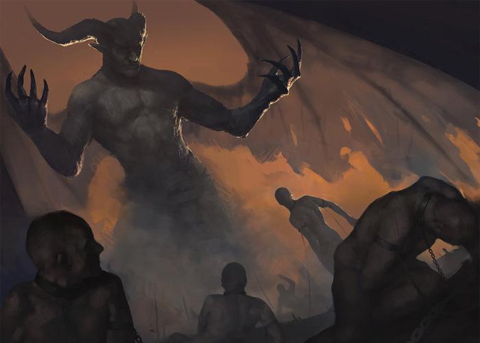 Картина «Люцифер, царь ада»