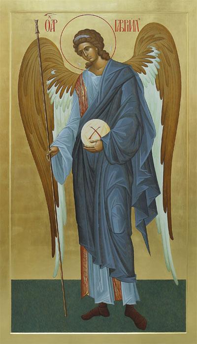 Икона с архангелом Гавриилом