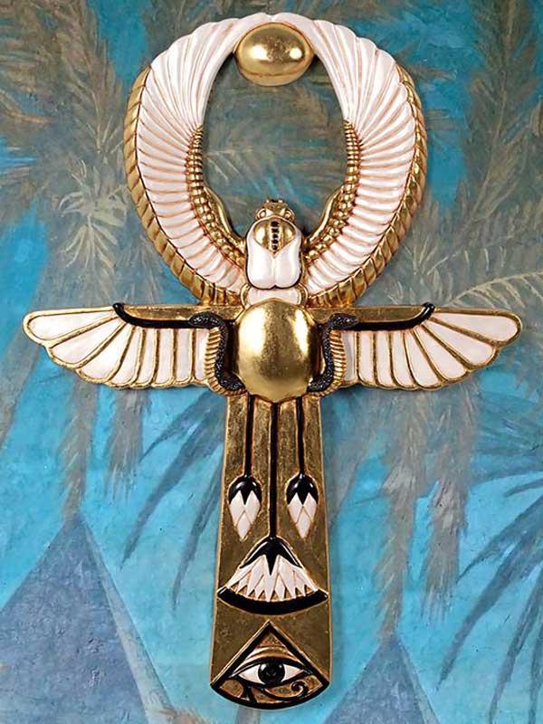 Один из вариантов изображения настенного древнеегипетского анкха – жезл богини Изиды