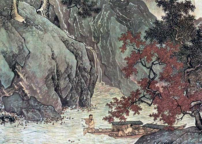 """Тан Инь """"Рыбаки на осенней реке"""""""