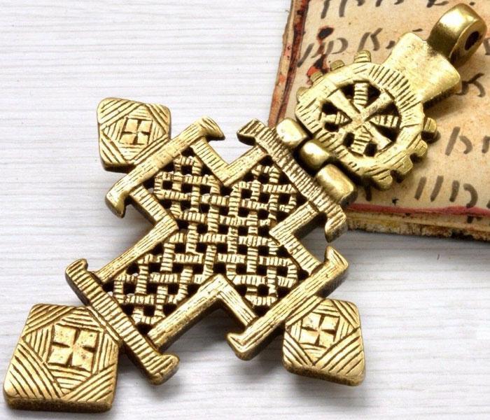 Коптский крест времен христианизации Египта