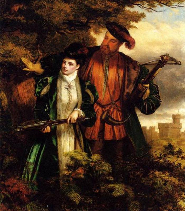 Генрих и Анна на охоте