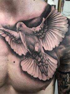 голубь татуировка