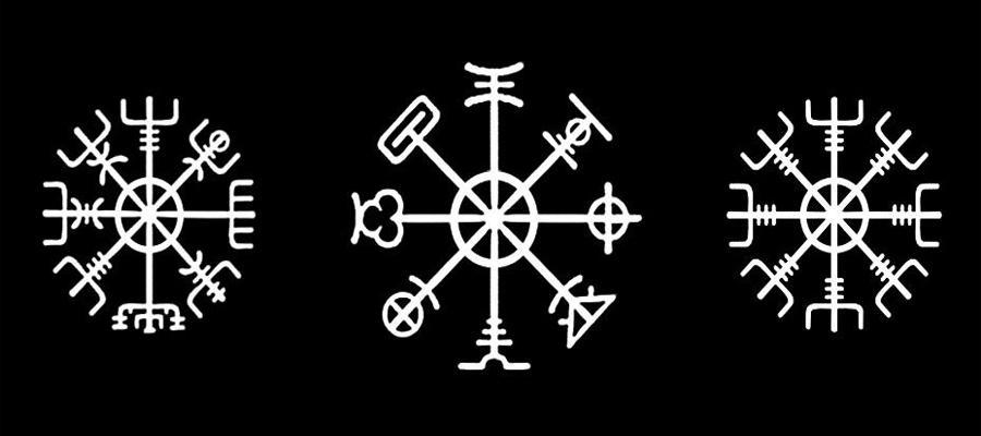 Агисхьяльм: виды изображения талисмана