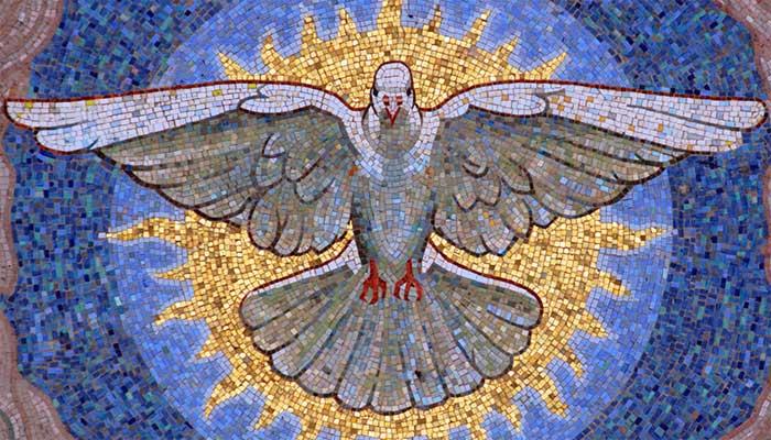 Мозаика с голубем