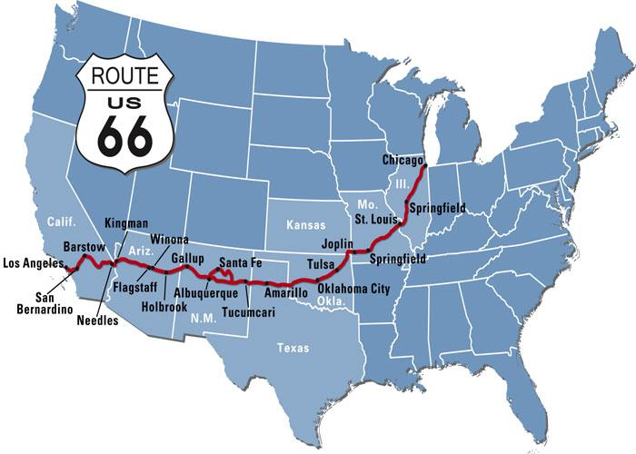 Route 66 Map