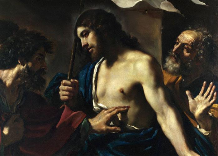 Фома касается ран Иисуса