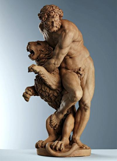 Статуэтка подвига Геракла из дерева