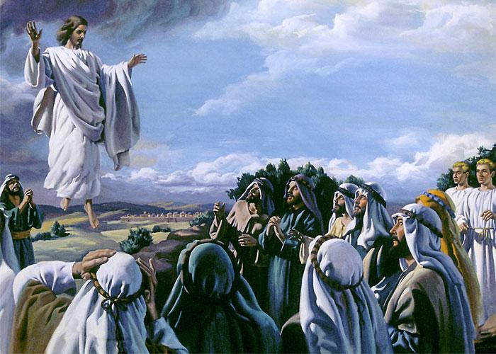 Иисус вознесся к небесам