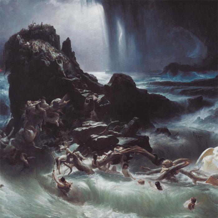 """Фрэнсис Денби, фрагмент картины """"Всемирный потоп"""" 1837 г."""