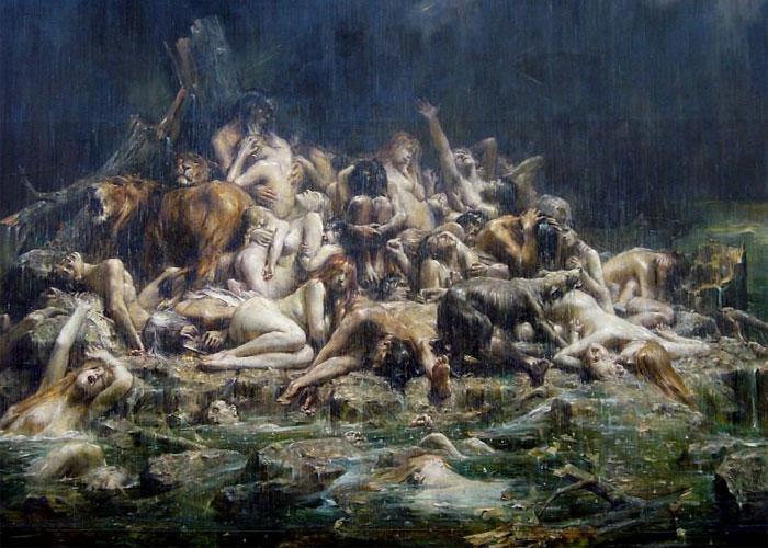 """Леон-Франсуа Комер """"Великий потоп"""" 1891 г."""