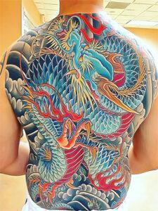 татуировки якудза дракон