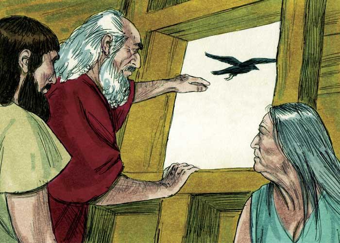 Ной с женой и сыном