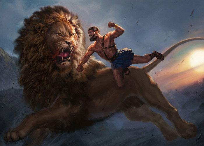 Поединок полубога и зверя