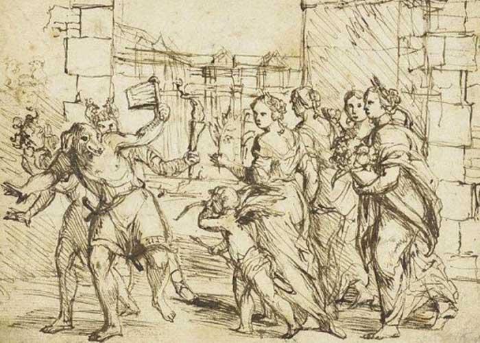 Картина под названием «The Lupercalian Festival in Rome», написанная в конце 16 века