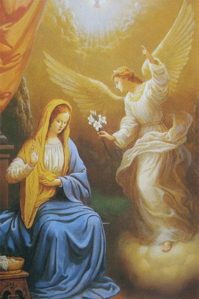 Дух посещает Деву Марию