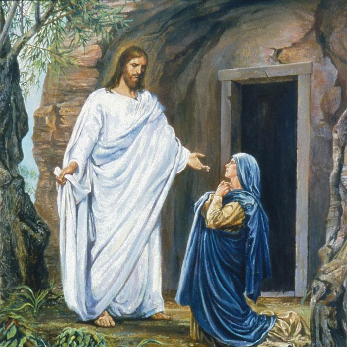 Мария Магдалина увидела Иисуса Воскрешенного