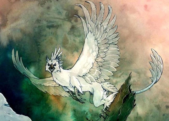 Симург в образе орла