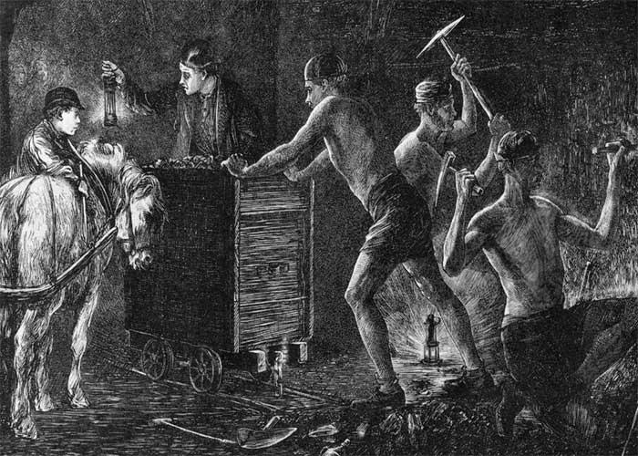 Работа грешника в шахте