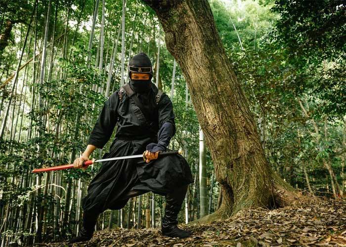 Ниндзя в лесу