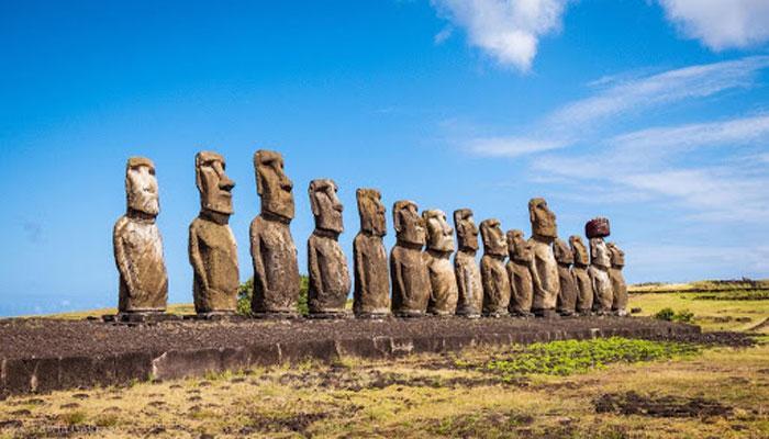 Идеально сохранившиеся образцы моаи