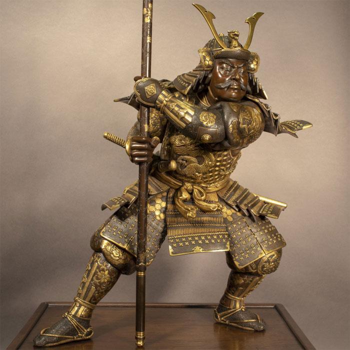 Полная экипировка самурая – на примере скульптуры Мияо Эйсукэ