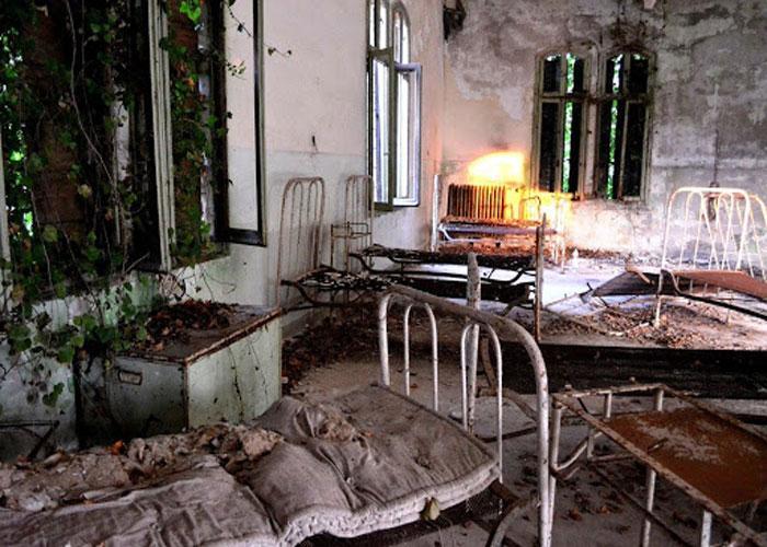 Одна из палат психиатрической больницы