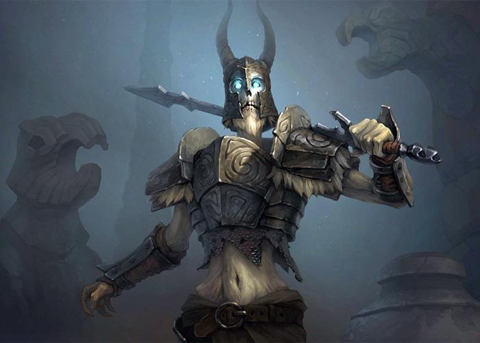 Мертвый, скандинавский воин