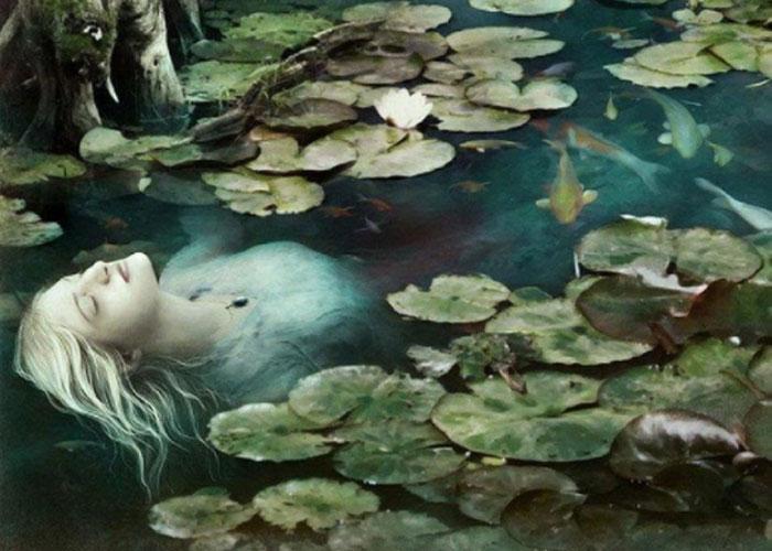 Образ девушки, утопившейся из-за несчастной любви и ставшей русалкой, часто фигурирует в различных музыкальных произведениях
