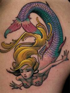 татуировка с русалкой