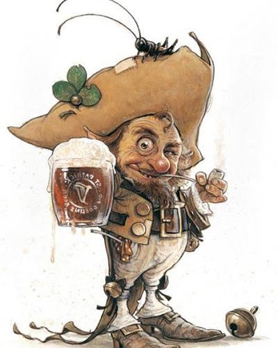 Лепрекон с пивом