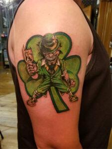 зеленый лепрекон тату