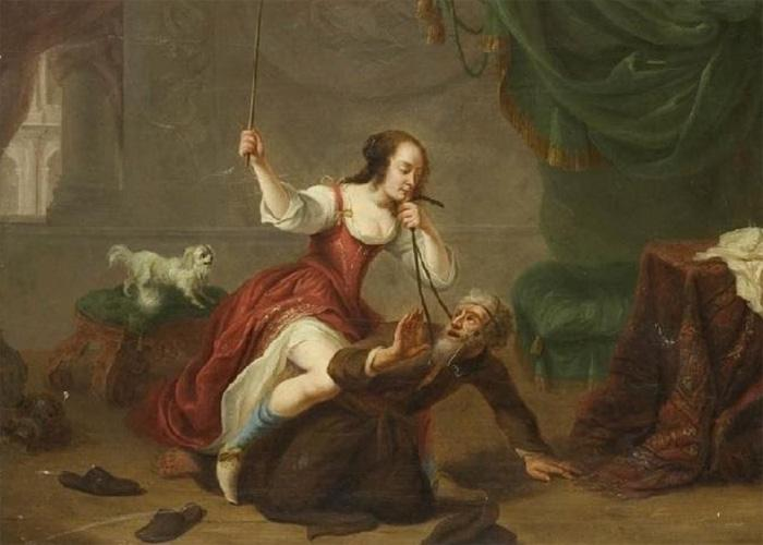 Девушка верхом на Аристотеле