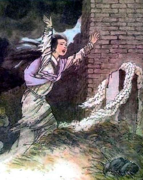 Убитая горем вдова