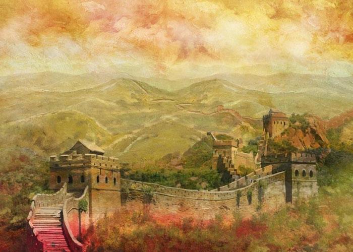 Великая стена в живописи