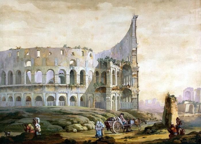 Амфитеатр в живописи