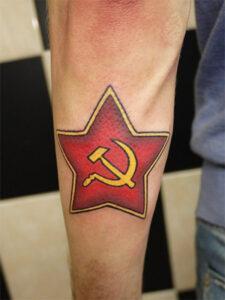 звезда татуировка