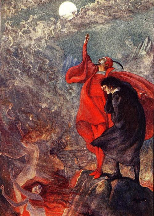 Мефистофель пытается совратить Фауста с помощью тысячи женщин