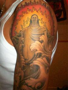 татуировка христа
