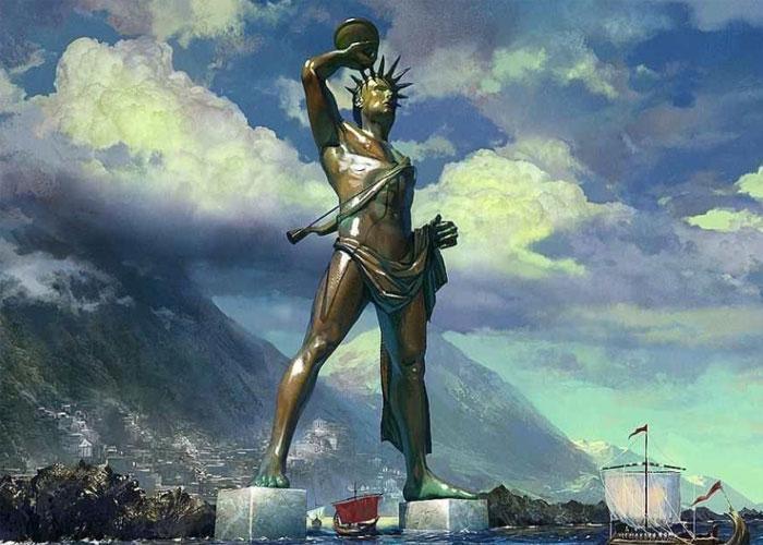 Созданная статуя в полный рост