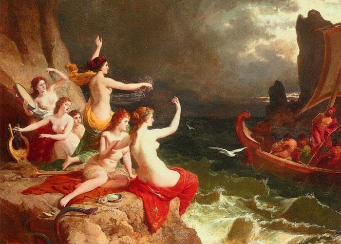 Мифологический персонаж и прекрасные нимфы