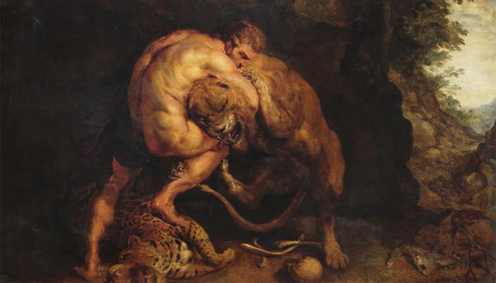 Первое сражение со львом