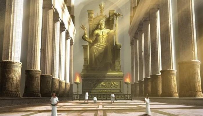 Статуя Громовержца в Олимпии