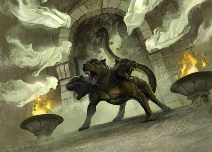 Цербер, охраняющий вход в царство мертвых