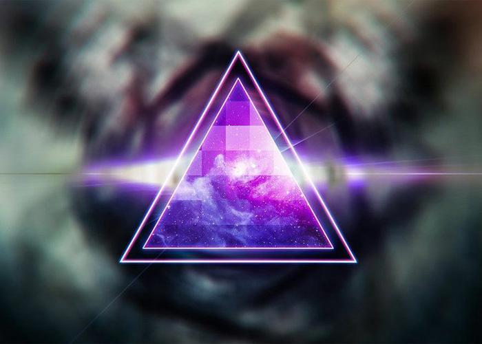 Символ иллюминат - треугольник и глаз