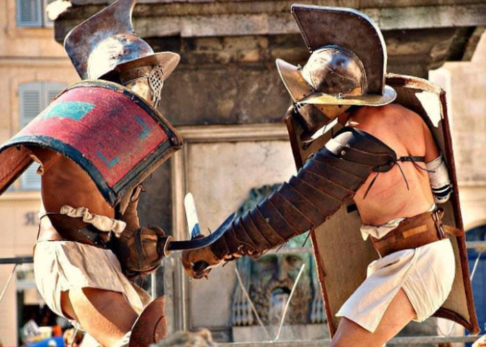 В 439 году гладиаторские игры перестали существовать в Римской империи