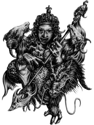 татуировка демона искусителя