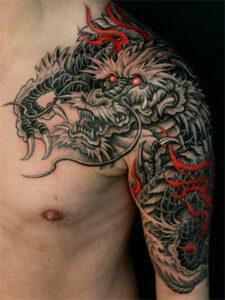 татуировка китайский дракон
