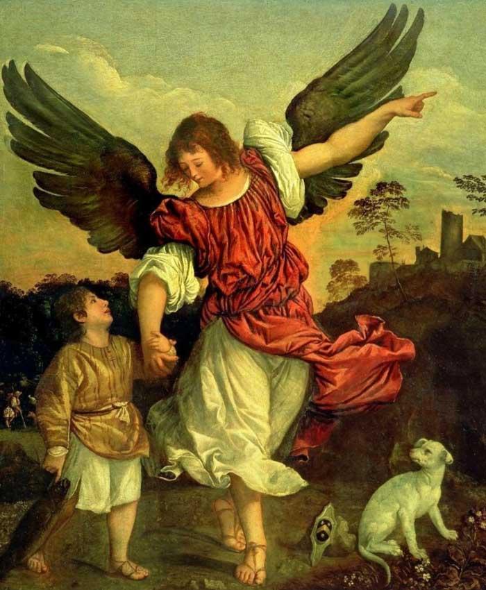 Архангел, Товия и его собака
